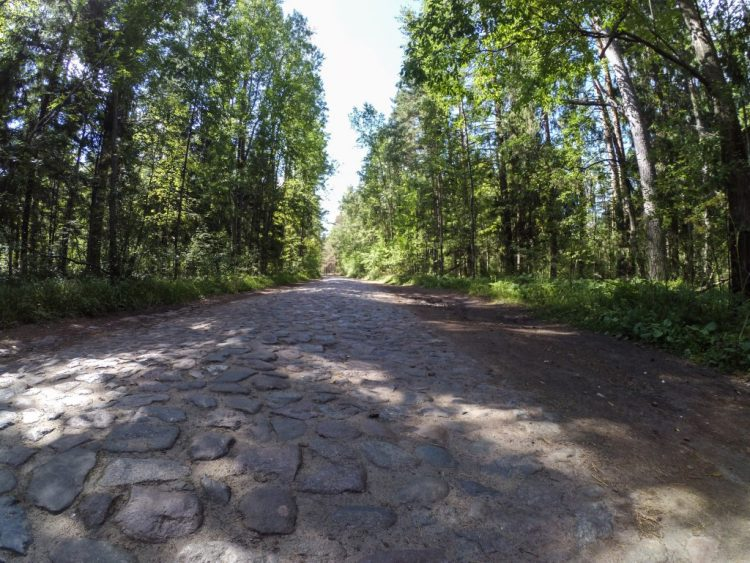 Cobblestone road to the fort. Traces of the Swedish royal road.