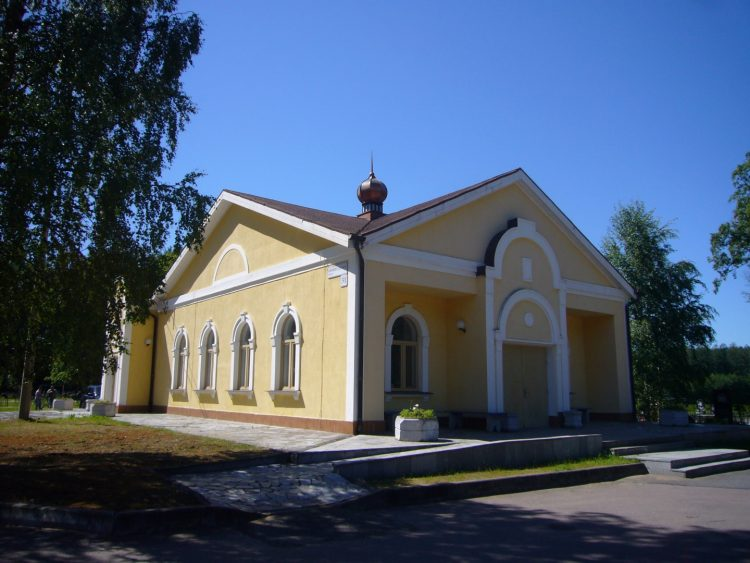 Pavilion of civil funeral service in Kronstadt